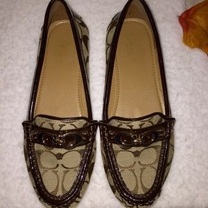 Coach Fortunata - logo, patent trim loafers nwob